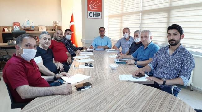 CHP'de Başkan Aktaş ve meclis üyeleri toplantıda buluştu