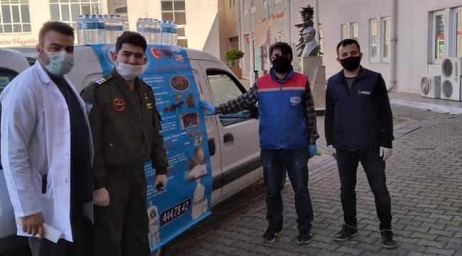 Darıca Farabi'ye 5 palet su bağışı yapıldı!