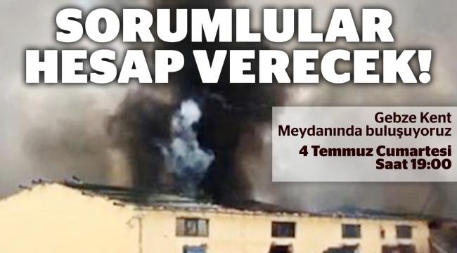 EMEP, Sakarya'da yaşanan patlamaya dair eylem yapacak!