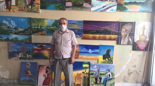 Darıcalı emekli işçi, 3 yılda 40 eser ortaya çıkardı!
