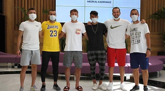 Darıca G.B'li futbolcular, sağlık kontrolünden geçti!