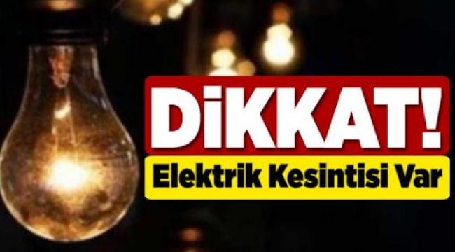 Dikkat! Darıca'da bugün elektrik kesintisi olacak!