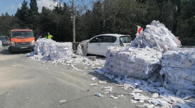 Freni boşaldı 9 aracı ezdi