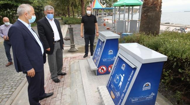 Gebze'de yer altı konteynıruygulamaları sürüyor