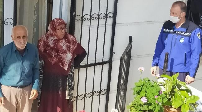 Alzheimer hastası İbrahim Amca'yı zabıta evine götürdü