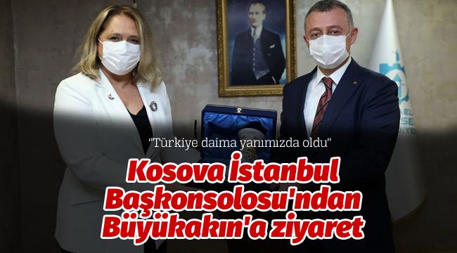 Kosova İstanbul Başkonsolosu'ndan Büyükakın'a ziyaret