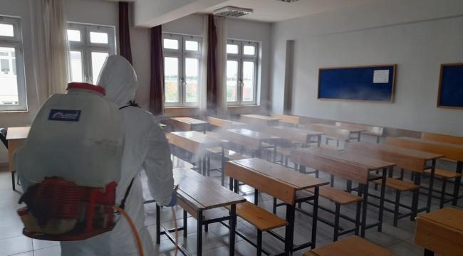 Okullar sınav içindezenfekte edildi
