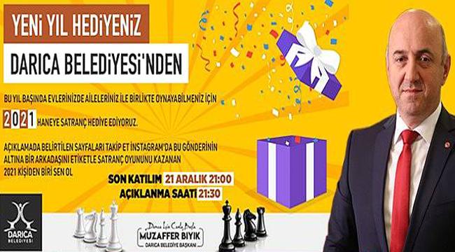 Satranç çekilişine yoğun ilgi oldu, Başkan Bıyık herkese satranç takımı hediye edecek!