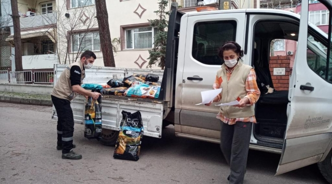 Büyükşehir, sokak hayvanları için1,5 ton mama dağıttı