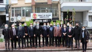 CHP Kocaeli esnafları ve gazetecileri ziyaret etti