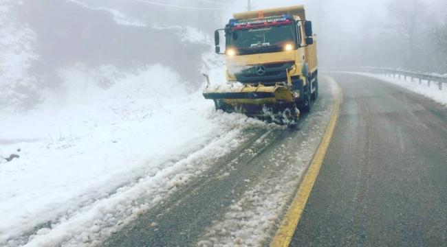 Kartepe'de kar yağışı etkili oldu!