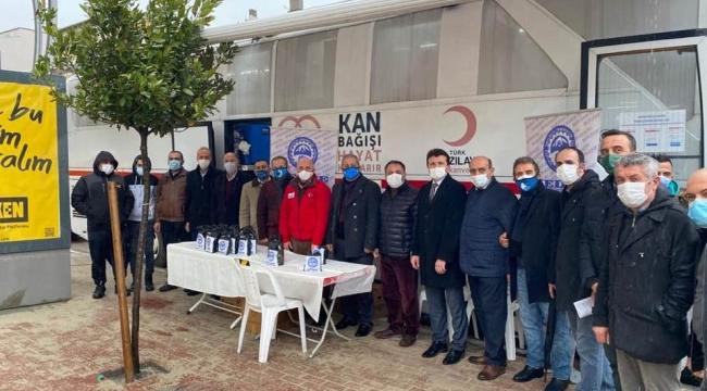 KEDFE ve Kızılay Darıca'nın kan kampanyasına yoğun ilgi