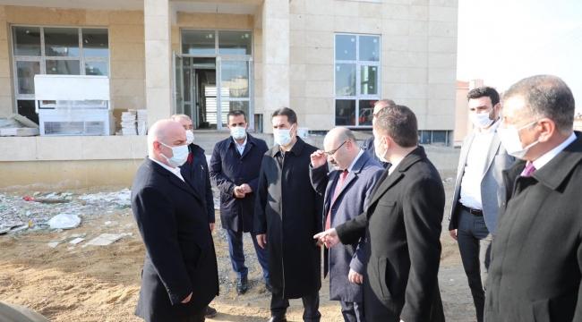 Milletvekili Yaman, Darıca Emniyet Müdürlüğü binası inşaatını inceledi