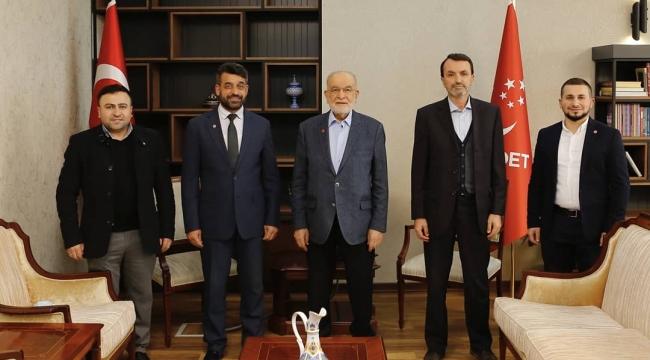 Darıca Saadet Partisi Karamollaoğlu'yla görüştü