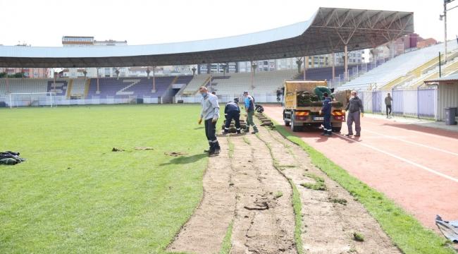 Gebze Stadı'ndaki yenileme çalışmalarına başlandı