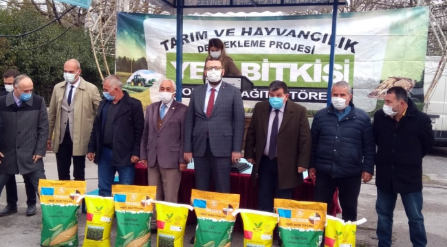 Büyükşehir'in yüzde 50 hibeli tohum desteği çiftçilere ulaştırılmaya başlandı