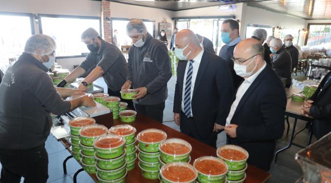 Darıca'da her gün 3 bin kişilik sıcak yemek dağıtımı yapılacak!