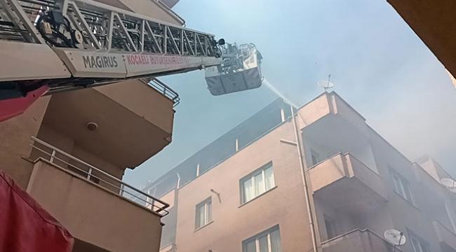 Darıca'da teras katında çıkan yangın söndürüldü