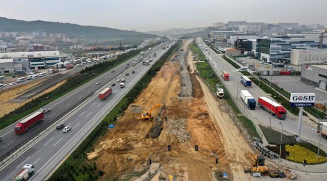 Gebze'deki o projede çalışmalar Kuzey yan yolda yoğunlaştı