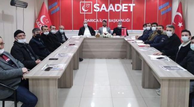 Saadet Partisi Darıca İlçe Başkanlığı haftalık toplantısını gerçekleştirdi