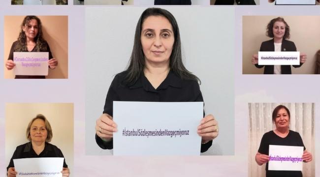 CHP'li kadınlar; İstanbul Sözleşmesi'nden vazgeçmiyoruz!