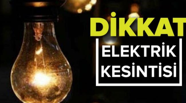 Darıca'da bugün bazı mahallelerde elektrik kesintisi yaşanacak!