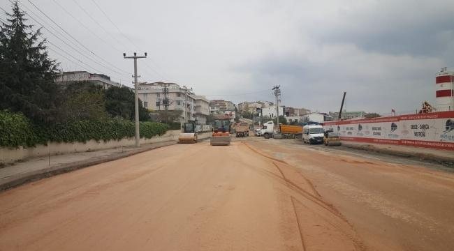 Darıca Kaplan Caddesi'ne Atık su ve yağmur hattı döşendi