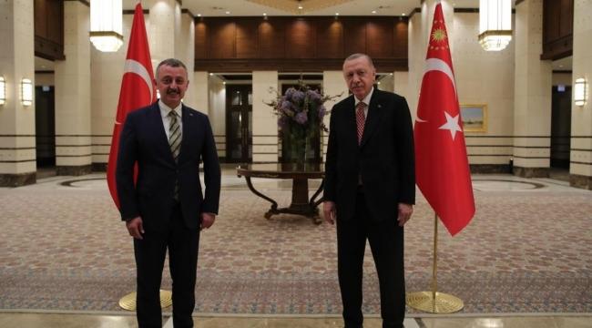 Büyükakın ,Cumhurbaşkanı Erdoğan ile bir araya geldi
