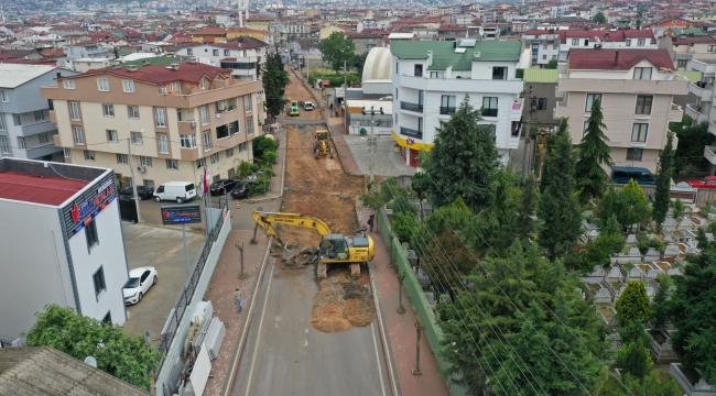 Darıca Battalgazi Caddesi'nde çalışmalar sürüyor