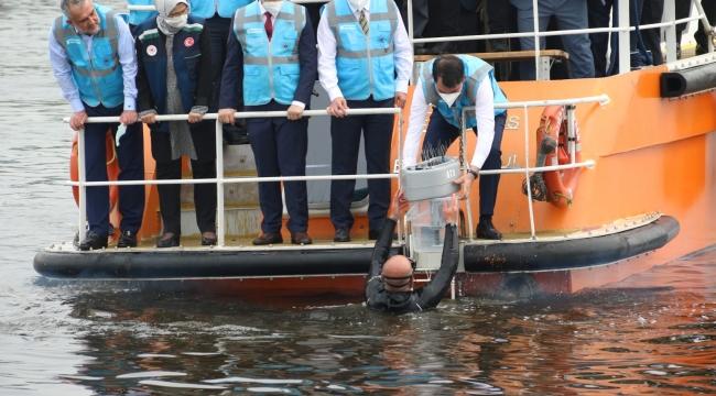 Kocaeli'deki denizlere 4 adet oksijen cihazı yerleştirildi!