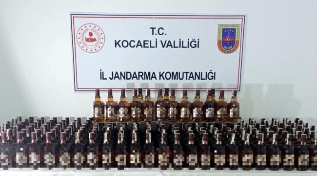 Sahte 190 şişe viski ele geçirildi