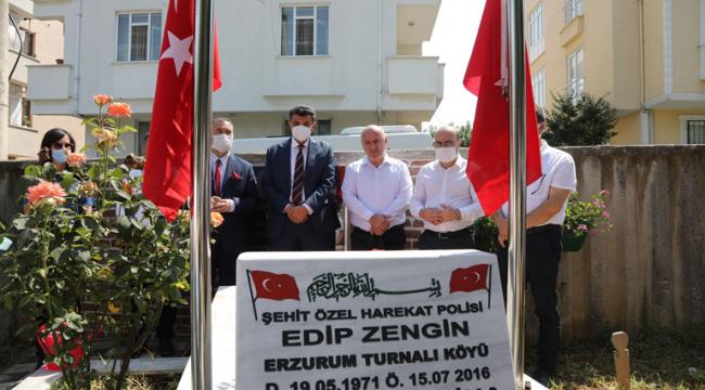 15 Temmuz şehidi Edip Zengin mezarı başında anıldı