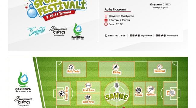 Çayırova Belediyesi'nden Spor Festivali