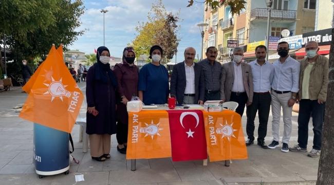 Ak Parti Darıca, 14 mahallede stant kurdu!