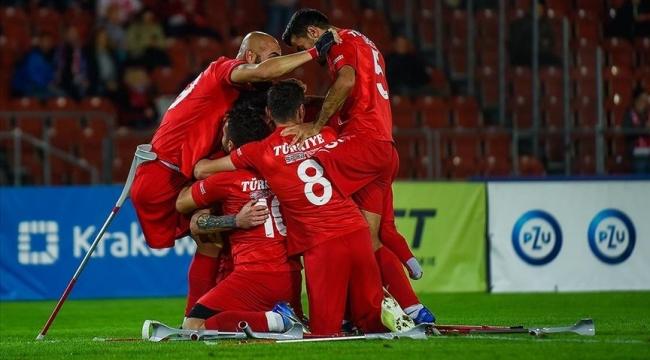 Ampute Futbol Milli Takımımız üst üste ikinci kez Avrupa Şampiyonu
