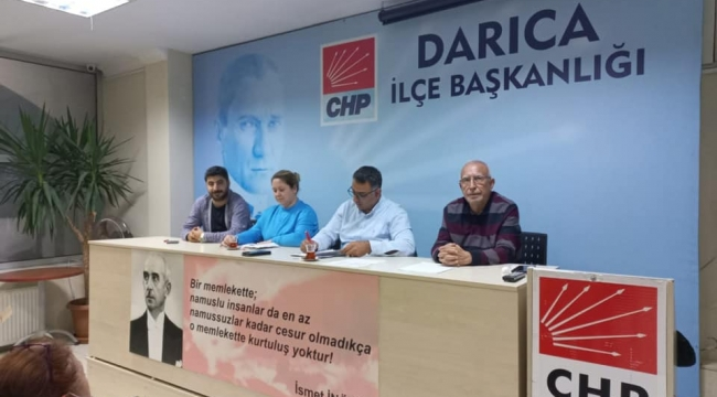 CHP Darıca haftalık toplantısını gerçekleştirdi