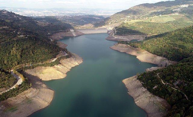 Yuvacık Barajı'nda su seviyesi yüzde 30'a düştü.