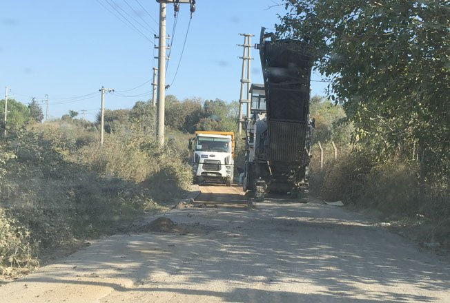 Filingir Yolu asfaltlanıyor