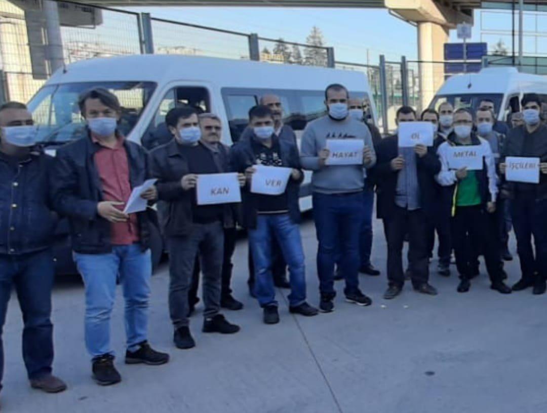 Kroman Çelik işçilerinden anlamlı destek