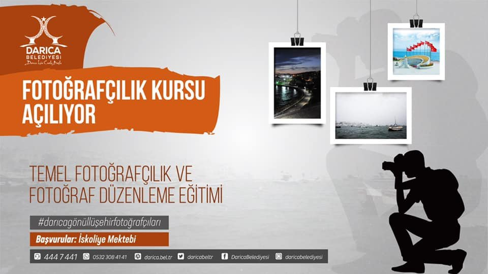 Darıca'da fotoğrafçılık eğitimi verilecek!