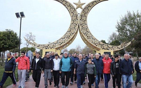 Karaosmanoğlu, Sabah yürüyüşü için Darıca'yı seçti
