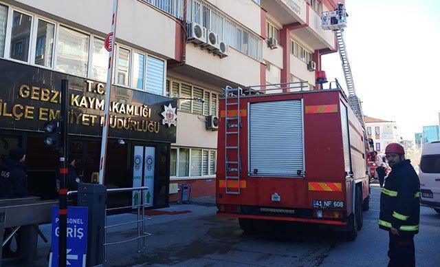Emniyet Müdürlüğü'nde korkutan yangın