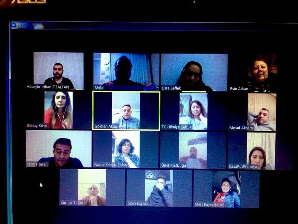 CHP Darıca'da online toplantı